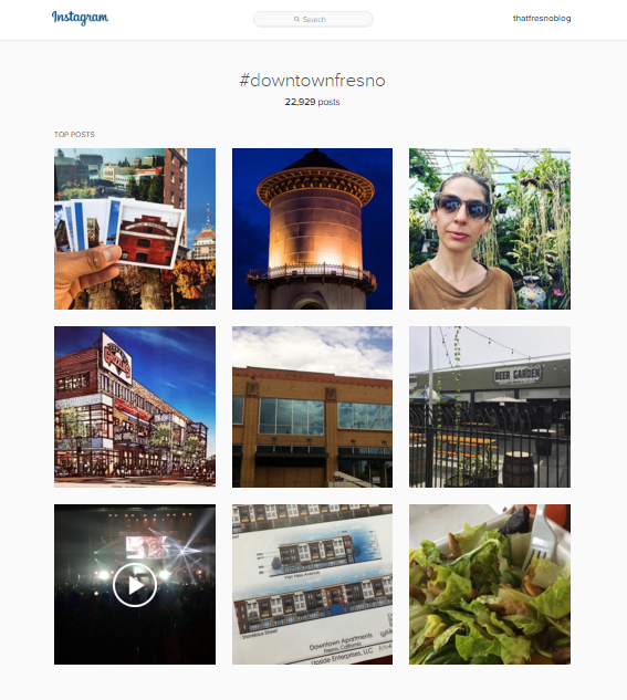Instagram - Downtown Fresno Hashtag Feed